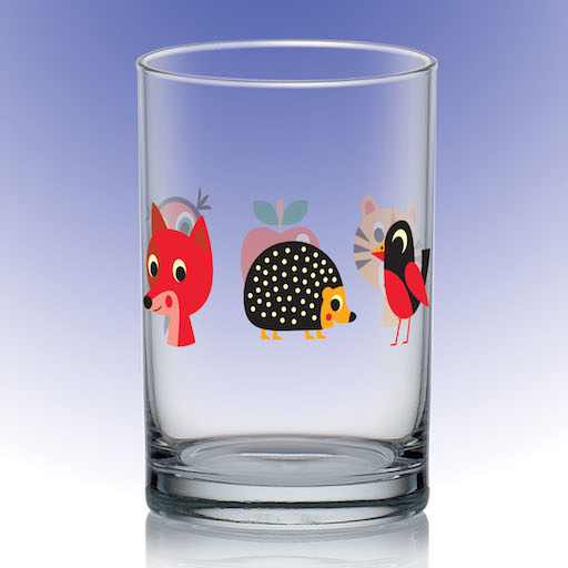 OMM-design glass with animals tiger