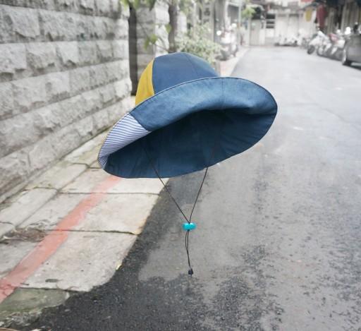 UV防水加工済みで晴雨兼用の折り畳める帽子