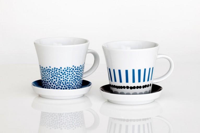 「Harvest マグカップ」 ノルウェーDarling Clementineからの「HARVEST」マグカップ。ドットやストライプ柄がさわやかな季節におすすめ。 付属のソーサーは、フタにも使えて、茶葉やコーヒーの香りをフレッシュに楽しめ、お茶の時間を盛り上げるアイテムです。