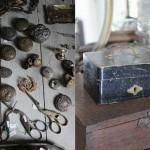 銀製のケース、ボタン、写真等色々な小物