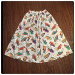 シューズ柄スカート :古着ならではのポップな柄がかわいいです。