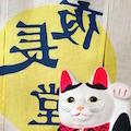 夜長堂イメージカット暖簾と猫