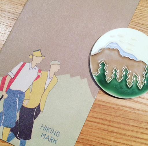 ハイキング封筒とタイル_s